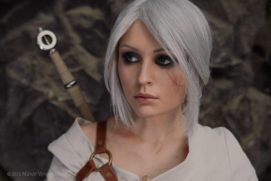 Косплей на персонажа Цири из игры The Witcher 3