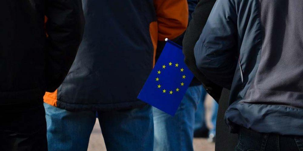 Митинг ЕС в Луганске